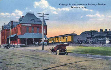 Chicago & Northwestern Railway Station, Winona Minnesota, 1900's