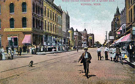 West Third Street, Winona Minnesota, 1908