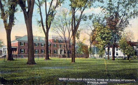Morey Hall and grounds, Normal School, Winona Minnesota, 1912