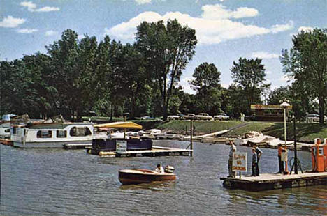 Boat harbor and marina, Winona Winona Minnesota, 1958