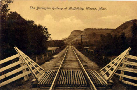 The Burlington Railway at Bluffsiding, Winona Minnesota, 1908