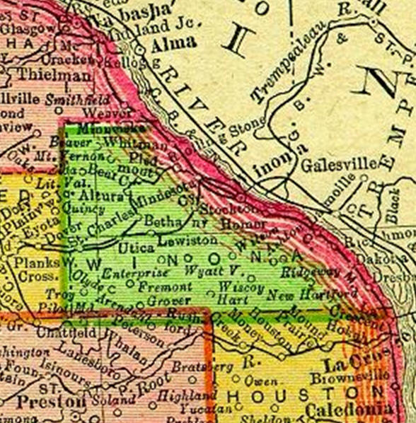 1895 Map of Winona County