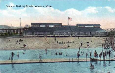 Bathing Beach, Winona Minnesota, 1910's