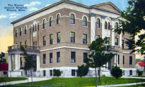 Winona General Hospital, Winona Minnesota, 1920's