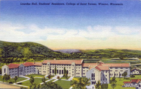 Lourdes Hall, College of Saint Teresa, Winona Minnesota, 1945