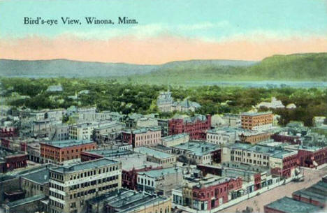 Birds Eye View, Winona Minnesota, 1910?
