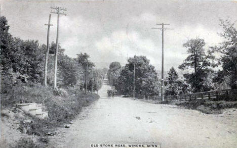 Old Stone Road, Winona Minnesota, 1909