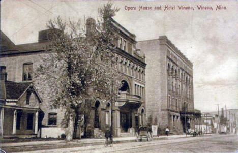 Opera House and Hotel Winona, Winona Minnesota, 1908