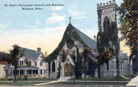 St. Paul's Episcopal Church and Rectory, Winona Minnesota, 1905