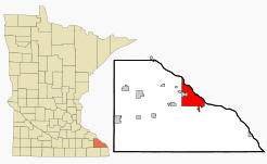 Location of Winona Minnesota
