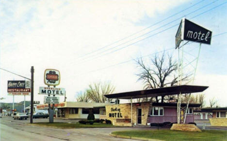 Sterling Motel and Happy Chef Restaurant, Winona Minnesota, 1960's