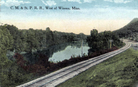 C.M. & St.P.R.R. West of Winona Minnesota, 1916