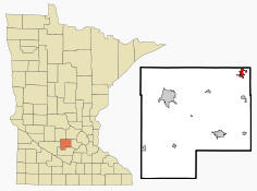 Location of Winsted, Minnesota