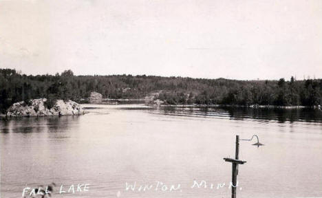 Birds eye view of Fall Lake, Winton Minnesota, 1939