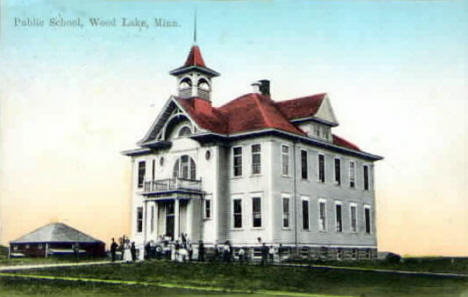Public School, Wood Lake Minnesota, 1914
