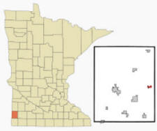 Location of Woodstock, Minnesota