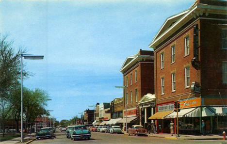 Tenth Street, Worthington Minnesota, 1958