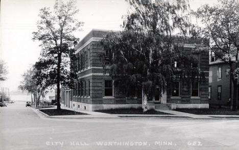 City Hall, Worthington Minnesota, 1940's