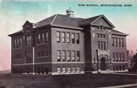 High School, Worthington Minnesota, 1907
