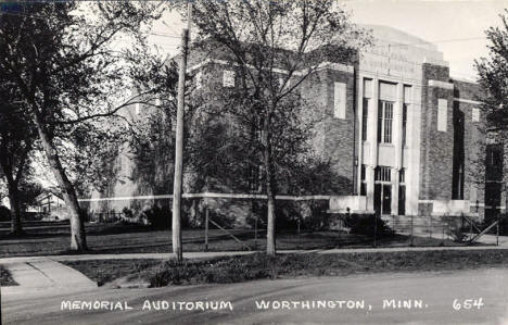 Memorial Auditorium, Worthington Minnesota, 1940's