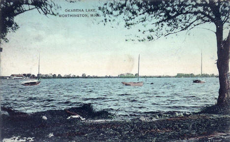 Okabena Lake, Worthington Minnesota, 1908