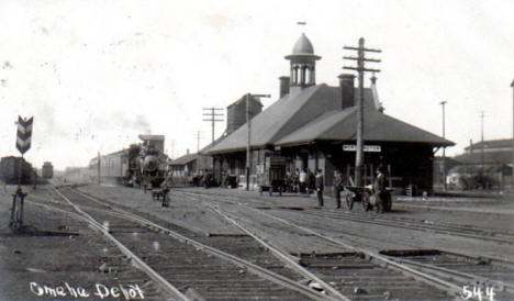 Omaha Depot, Worthington Minnesota, 1908