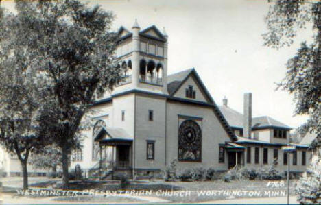 Westminster Presbyterian Church, Worthington Minnesota, 1940's