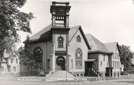 Methodist Episcopal Church, Worthington Minnesota, 1930's