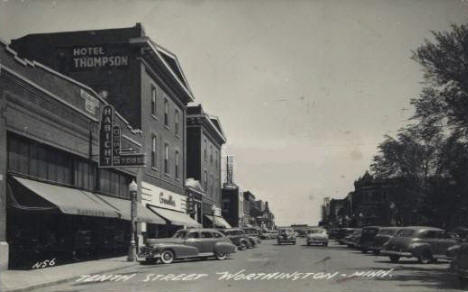 Tenth Street, Worthington Minnesota, 1948