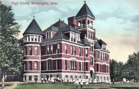 High School, Worthington Minnesota, 1910's