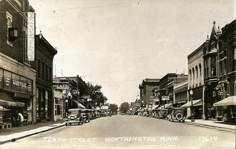 Tenth Street, Worthington Minnesota, 1933