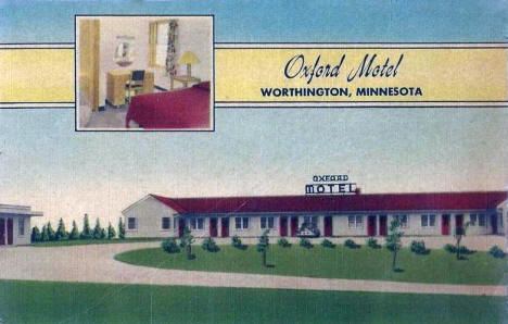 Oxford Motel, Worthington Minnesota, 1955