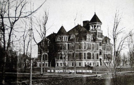 High School, Worthington Minnesota, 1910