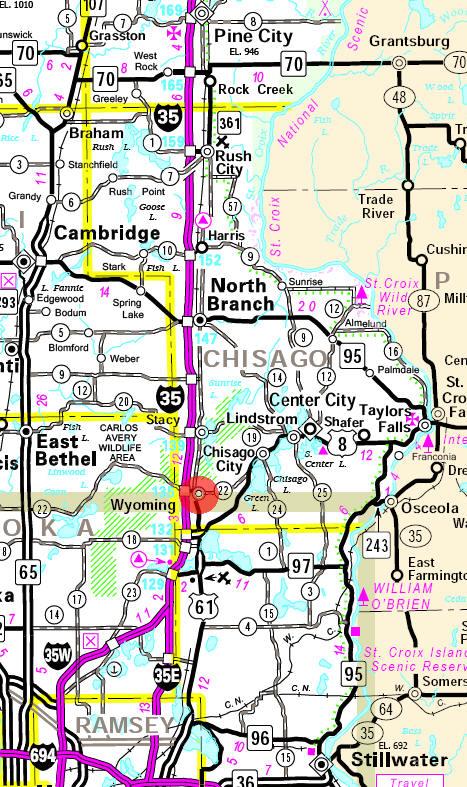 Guide To Wyoming Minnesota - Wyoming highway map