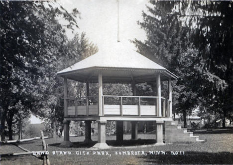 Band Stand, City Park, Zumbrota Minnesota, 1940's