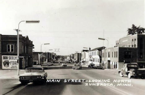 Main Street looking north, Zumbrota Minnesota, 1960's