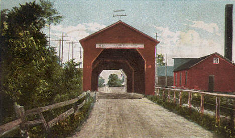 The Old Bridge, Zumbrota Minnesota, 1909