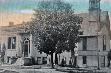 Library and City Hall, Zumbrota Minnesota, 1910's