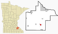 Location of Zumbrota, Minnesota