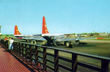Boeing Stratocruisers at Minneapolis Airport, 1957