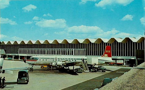 Scene at Minneapolis St. Paul International Airport, 1960's