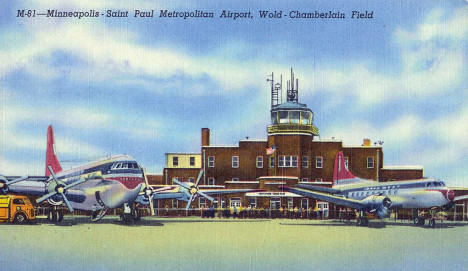 Wold Chamberlain Field Minneapolis Minnesota, 1940's