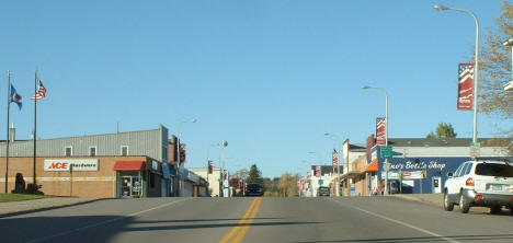 View of Broadway in Downtown Aurora Minnesota