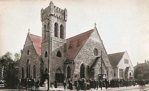 St. Marks Episcopal Church from Loring Park, Minneapolis Minnesota, 1910's