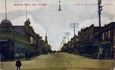View of Hibbing Minnesota, 1908