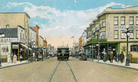 Third Avenue in Hibbing Minnesota looking north, 1917