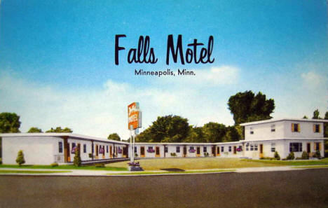 Falls Motel, Minneapolis Minnesota, 1950's