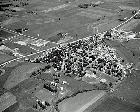 Aerial view, Mabel Minnesota, 1972