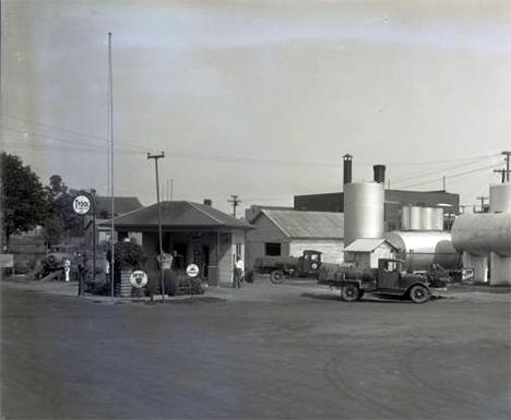 C. J. Steno Oil Station, Mabel, Minnesota, 1925