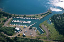 Knife River Marina aerial view